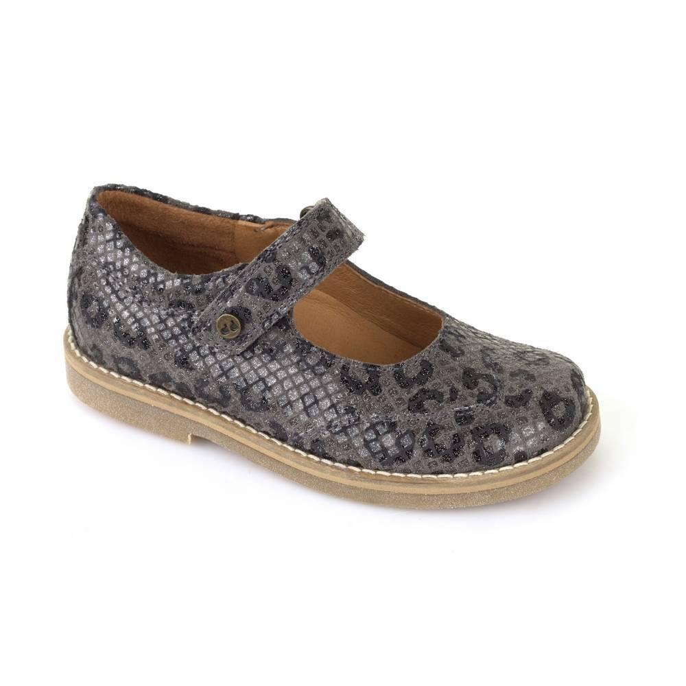 Туфли для девочки Froddo натуральная кожа на перепонке G3140064-4/Greyglitter
