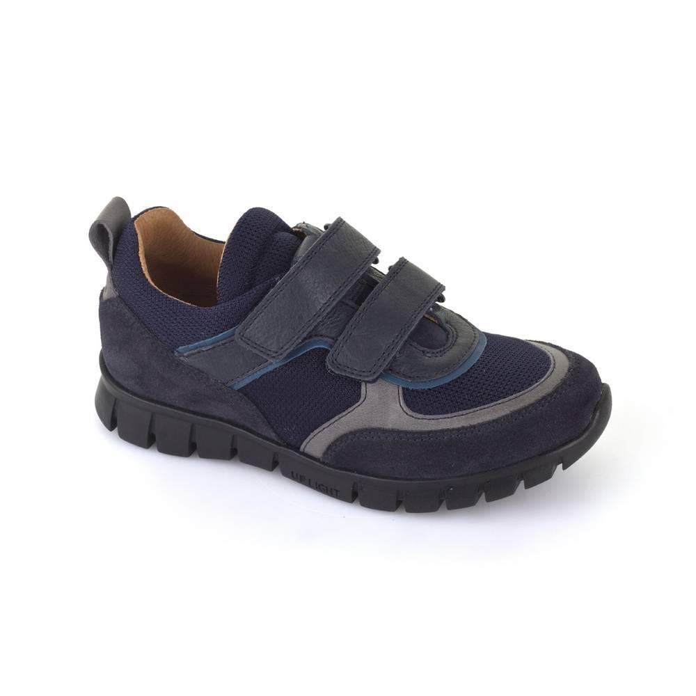 Кроссовки для мальчика Froddo демисезонные натуральная кожа текстиль липучки G3130104/DarkBlue