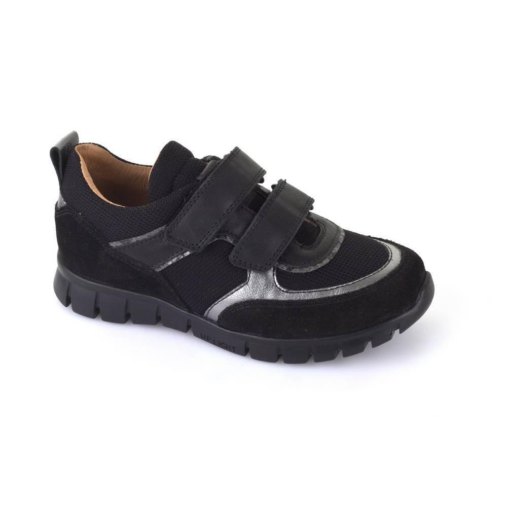 Кроссовки для мальчика Froddo демисезонные натуральная кожа на липучках G3130104-4/Black