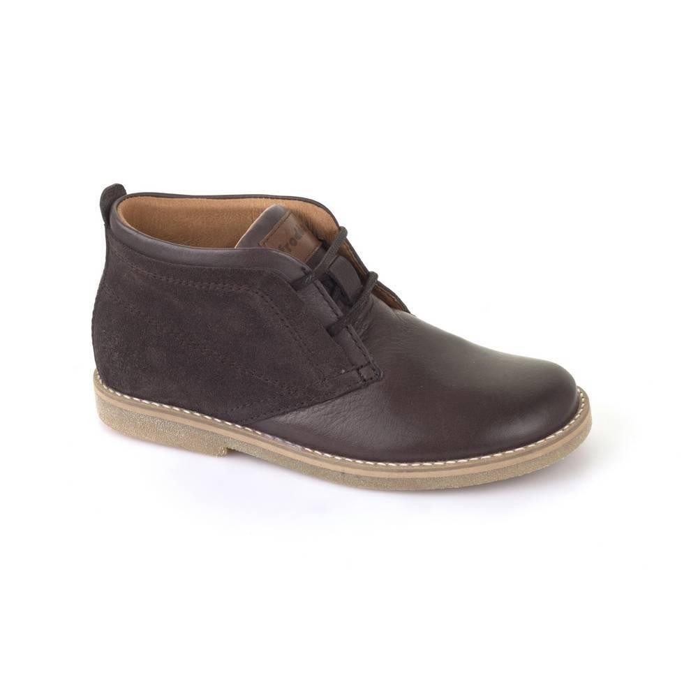 Ботинки для мальчика Froddo демисезонные натуральная кожа на шнурках G3110081-1/DarkBrown