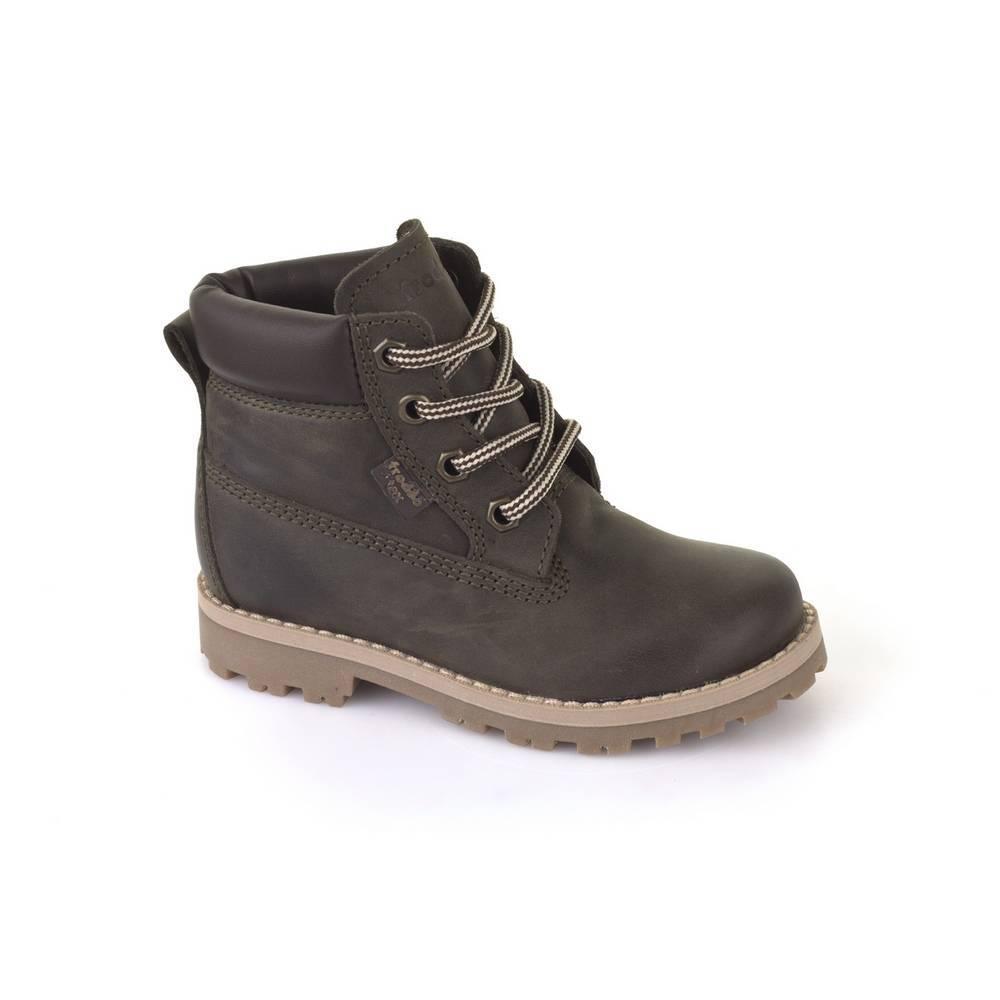 Ботинки детские Froddo демисезонные натуральная кожа на шнурках Froddo TEX G3110088-1/DARKGREEN