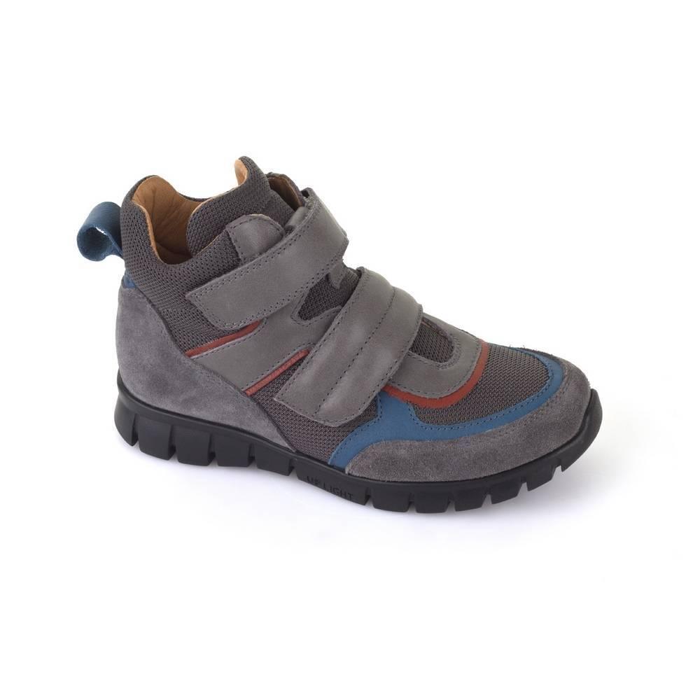 Кроссовки для мальчика Froddo демисезонные на липучках антибактериальная стелька G3110090-3/Grey