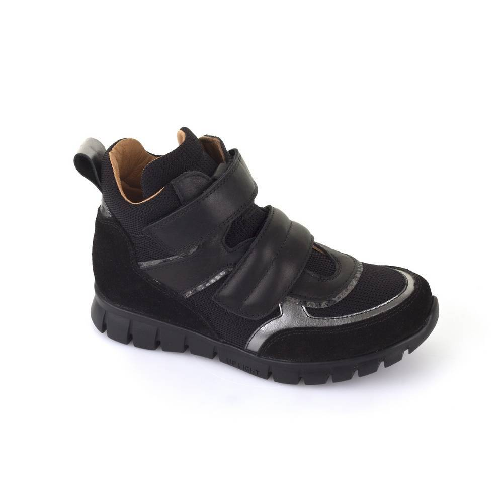 Кроссовки для девочки Froddo демисезонные натуральная кожа на липучках G3110090-4/Black