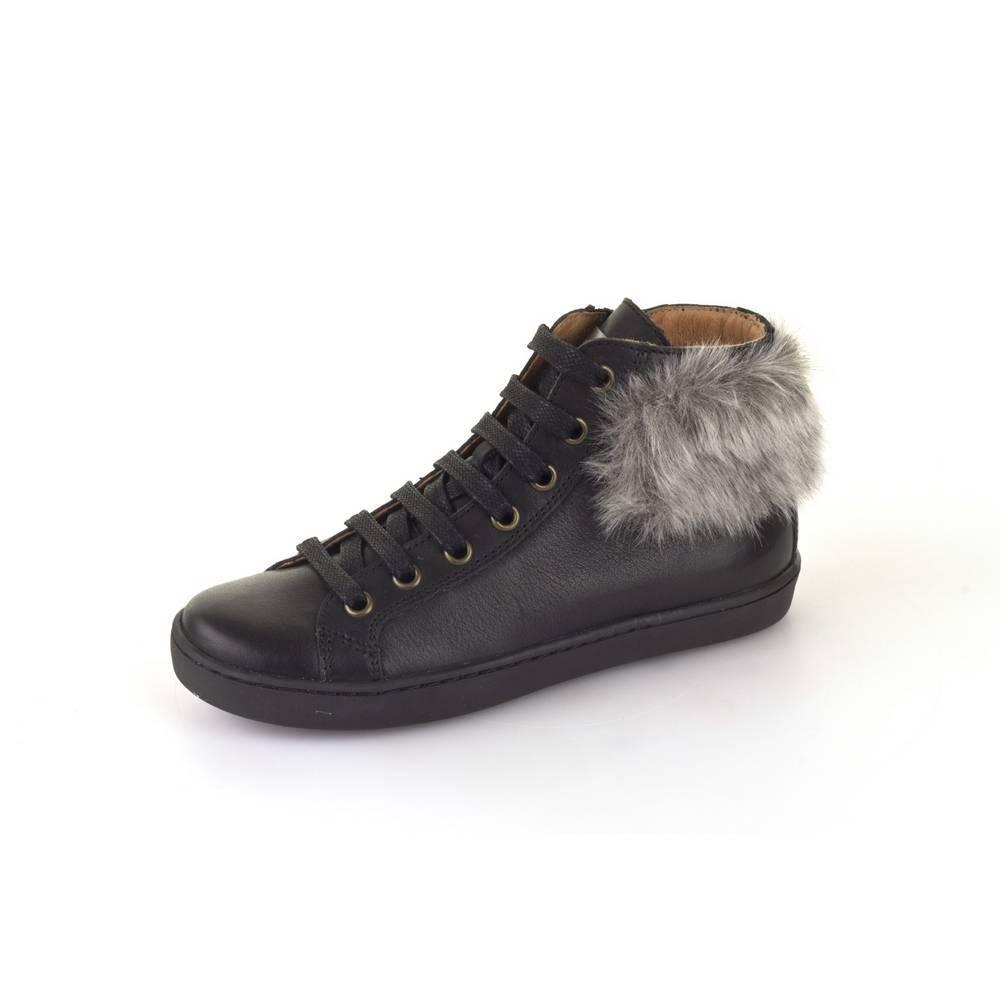 Ботинки для девочки Froddo демисезонные натуральная кожа на молнии G3110093-3/Black