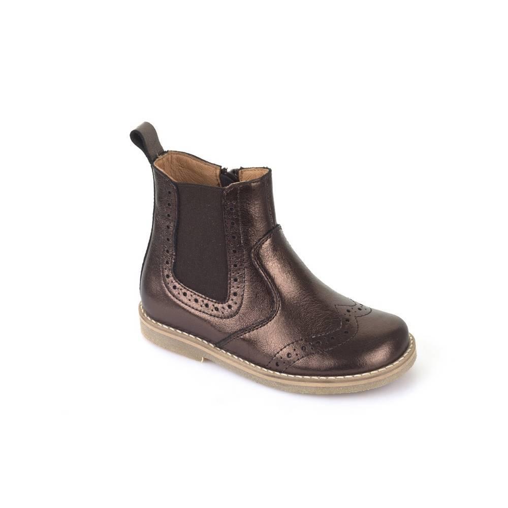 Ботинки для девочки Froddo демисезонные на молнии G3160064-12/BRONZE