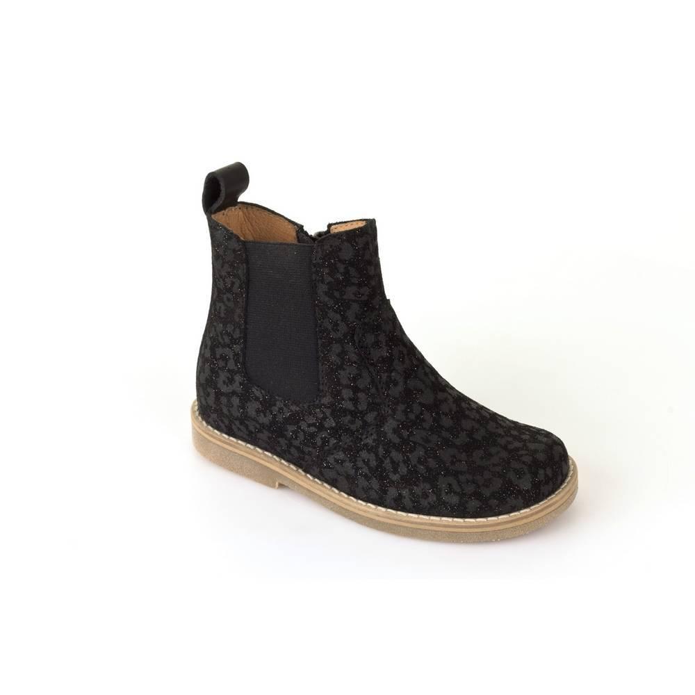 Ботинки для девочки Froddo демисезонные натуральная кожа на молнии G3160065-6/Black+