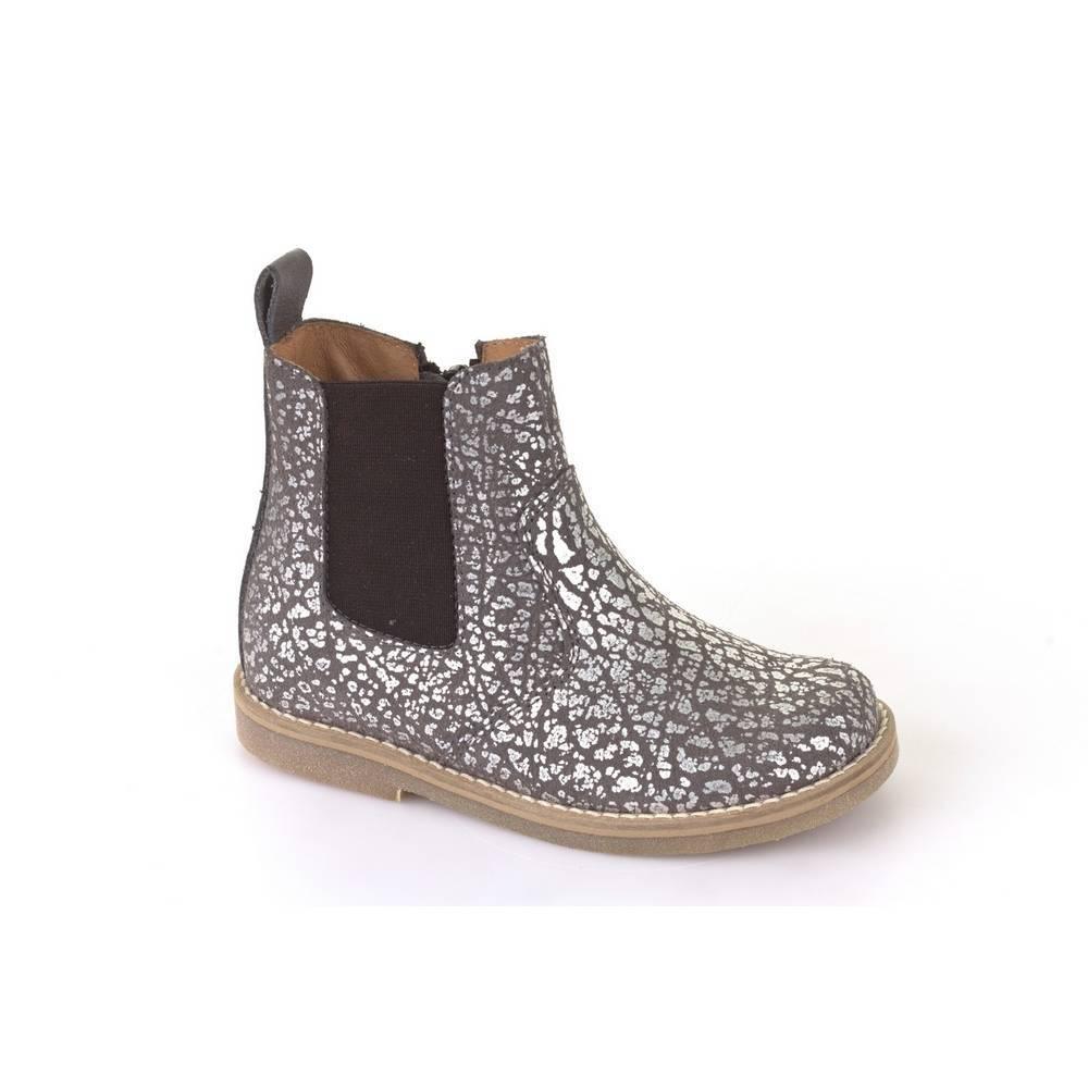 Ботинки для девочки Froddo демисезонные натуральная кожа на молнии G3160065-8/GreySilver