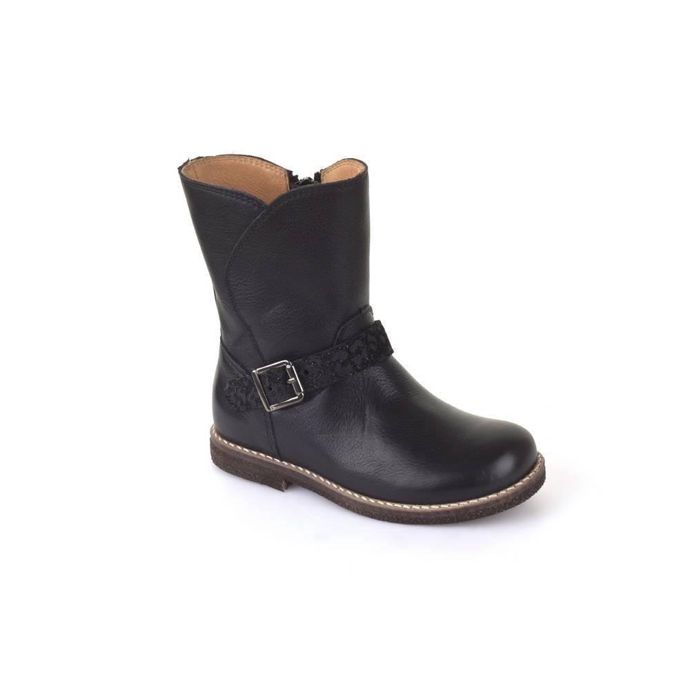 Сапоги для девочки Froddo демисезонные на молнии G3160067/Black