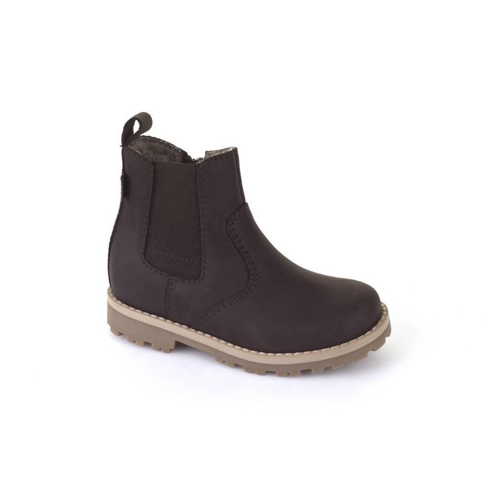Ботинки детские Froddo зимние натуральная кожа на молнии FRODDO TEX G3160071-2m/DarkBrown