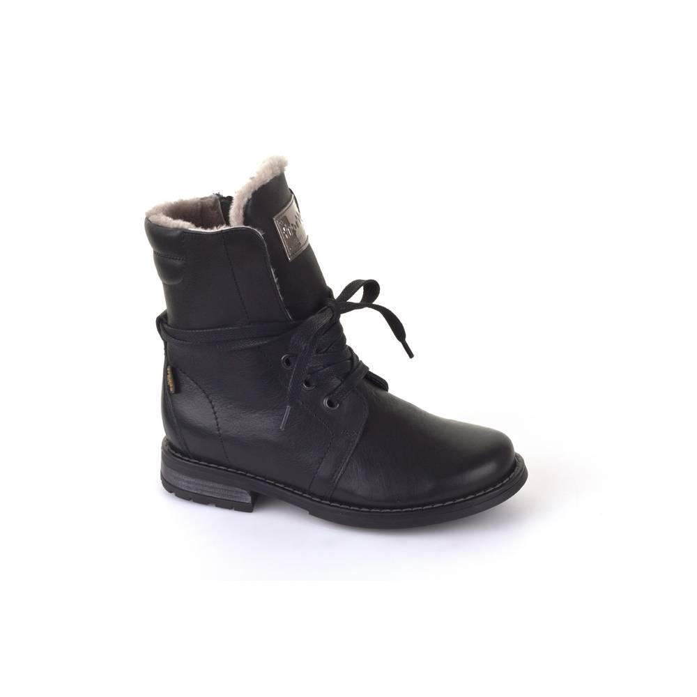 Ботинки для девочки Froddo зимние натуральная кожа на молнии FRODDO TEX G4160051m/Black