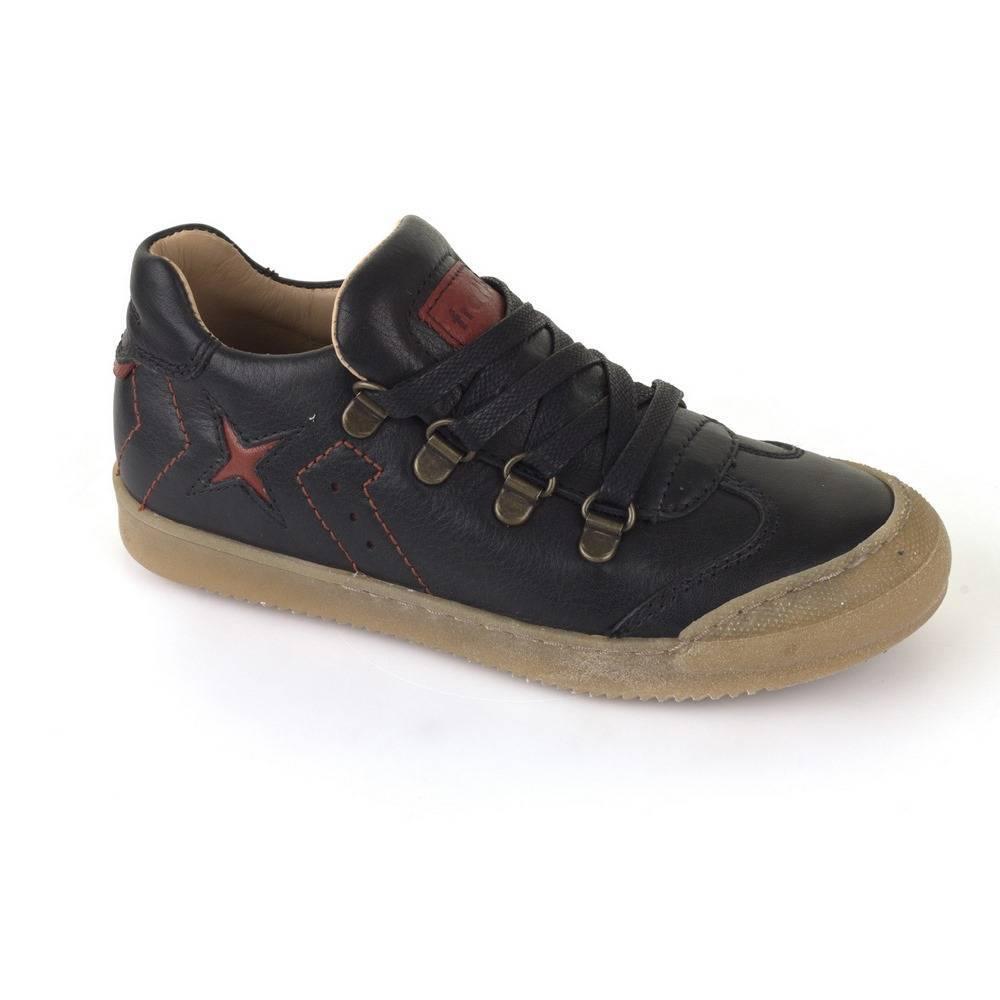 Кроссовки для мальчика Froddo демисезонные натуральная кожа на липучках G3130106-2/Black