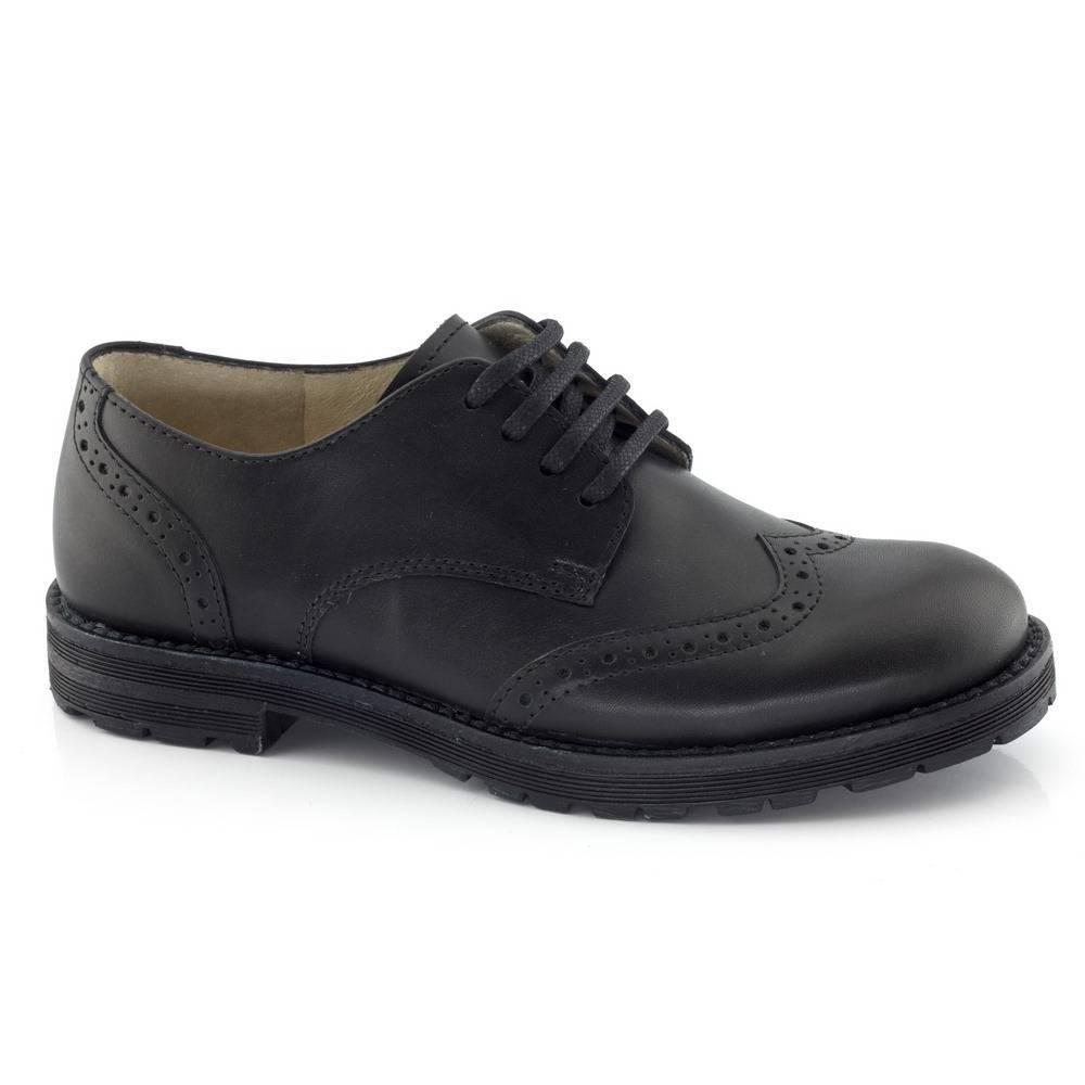 Туфли для мальчика Froddo натуральная кожа на шнурках G4130019/Black