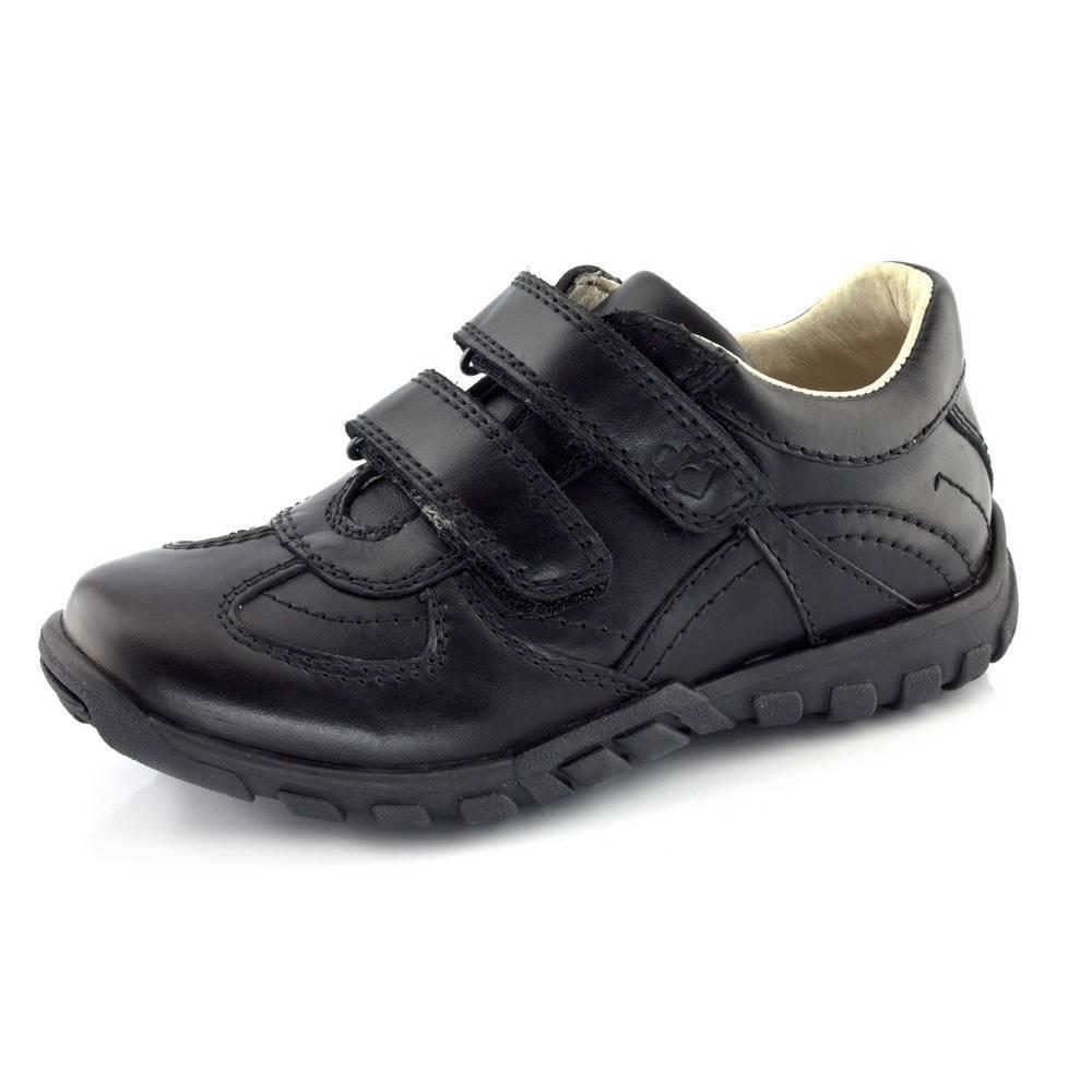 Кроссовки для мальчика Froddo демисезонные натуральная кожа на липучках G4130020/Black