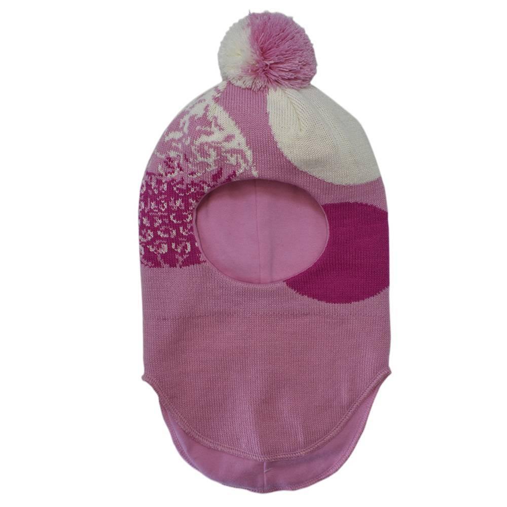 Шапка шлем для девочки LENNE зимний жаккард на подкладке JODAL 17381/262