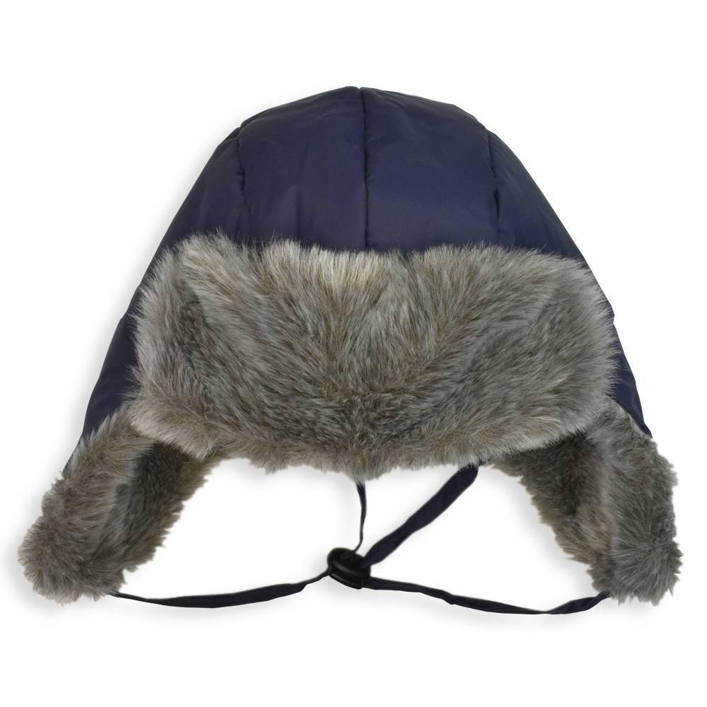 Шапка ушанка для мальчика LENNE зимняя синяя ALDO