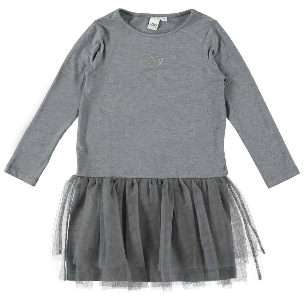Платье для девочки iDO трикотажное с оборкой 4.T966.00