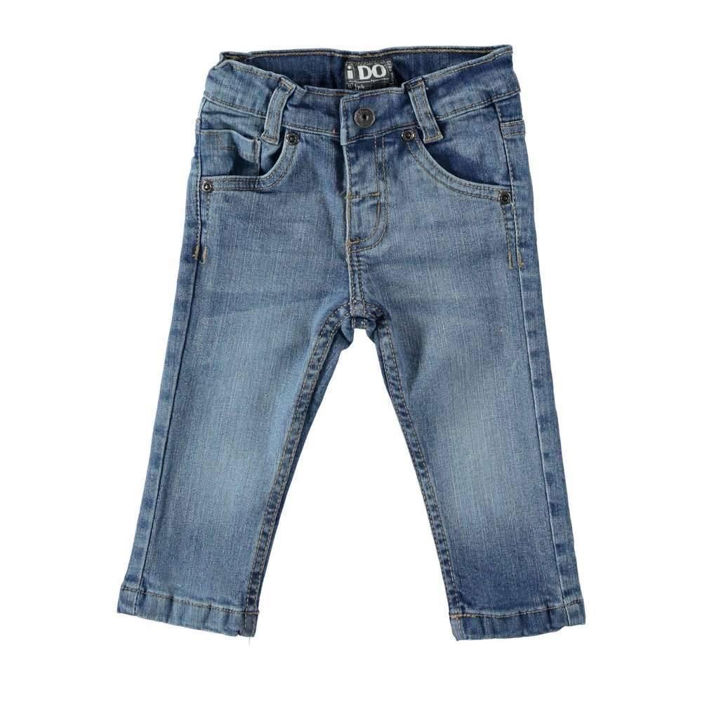 Джинсы для мальчика iDO модные с потертостями 4.T542.00/7350