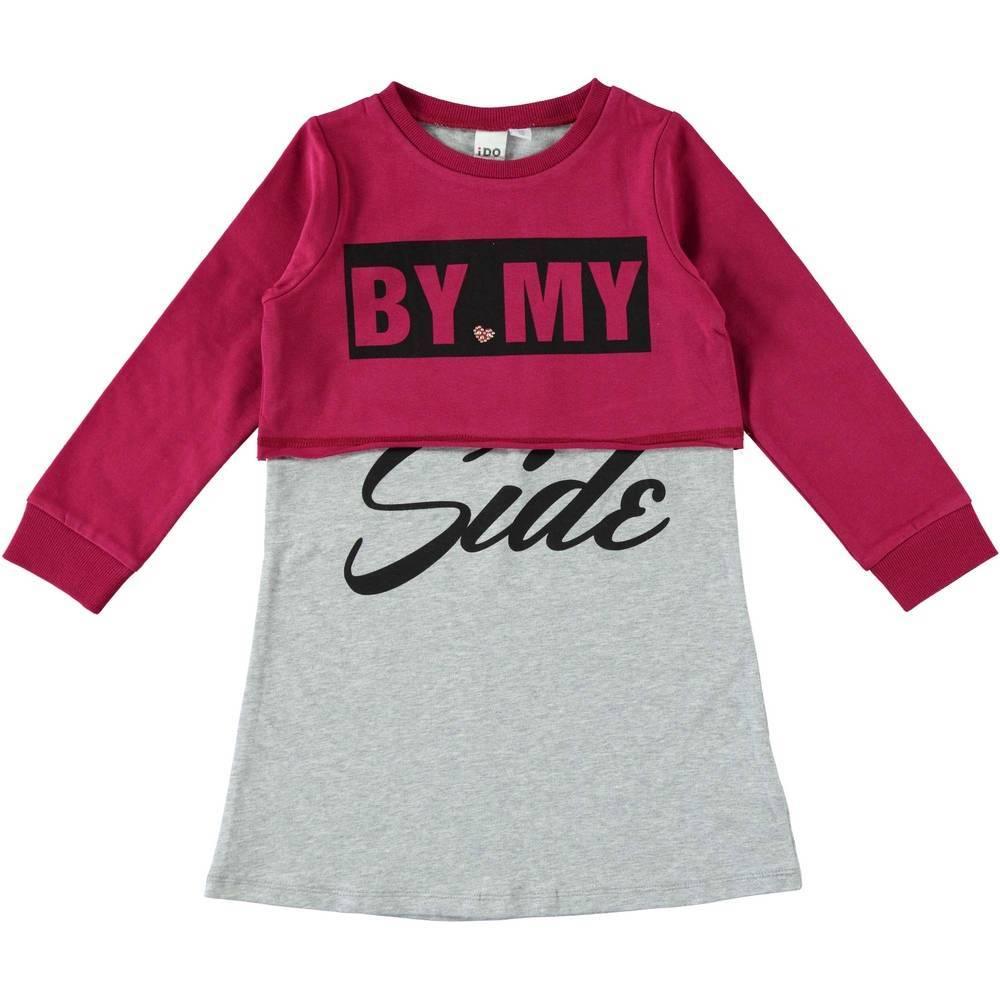 Платье для девочки iDO хлопок трикотаж принт 4.T974.00/8348