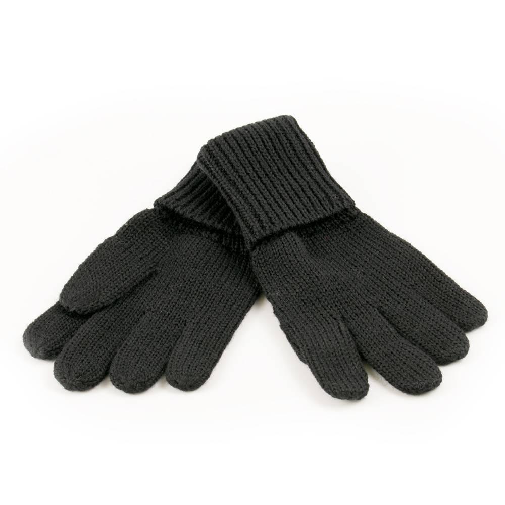 Перчатки детские LENNE вязаные черные шерсть KIRA