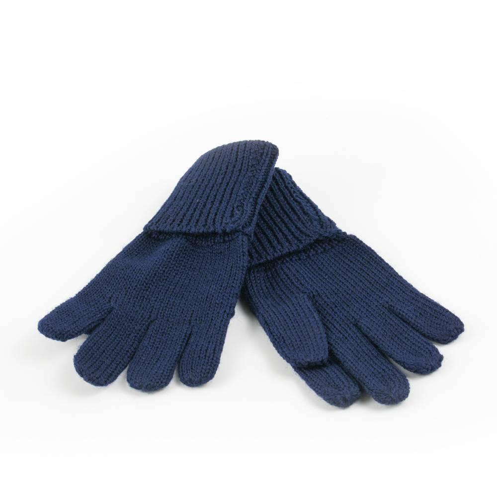Перчатки детские LENNE зимние вязаные шерсть синий KIRA