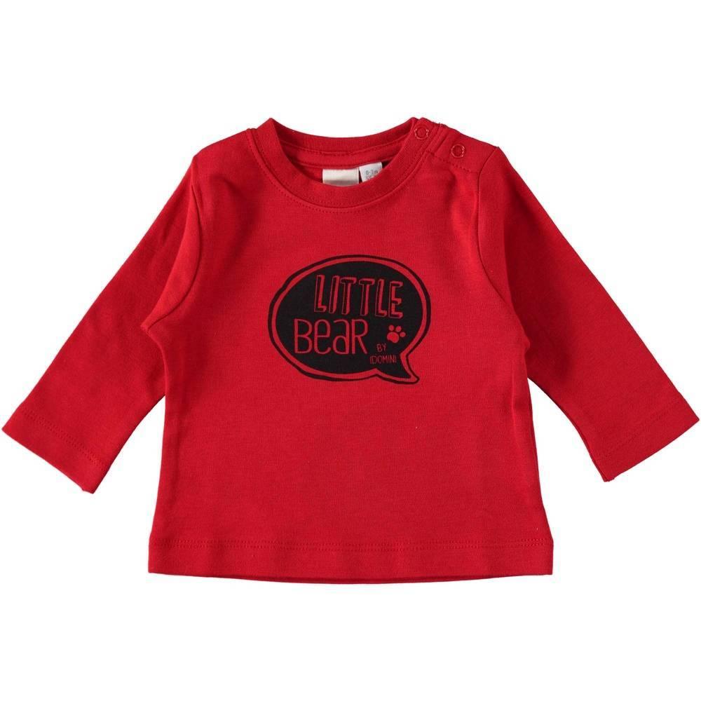 Реглан для мальчика iDO хлопок красный трикотаж принт 4.T236.00/2253