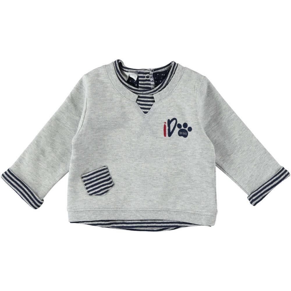 Реглан для мальчика iDO хлопок серый трикотаж принт 4.T237.00/8992