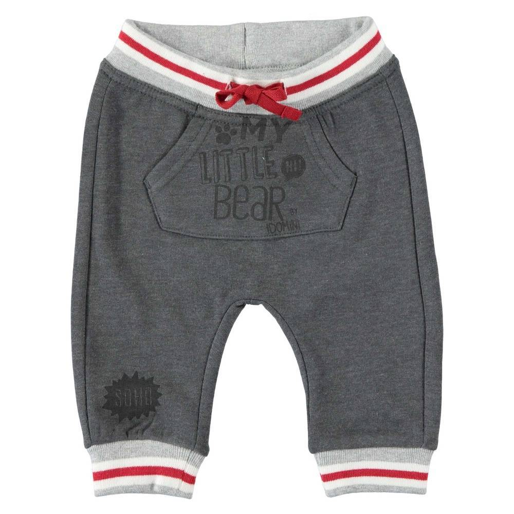Штаны для мальчика iDO спортивные серый трикотаж 4.T255.00/8994