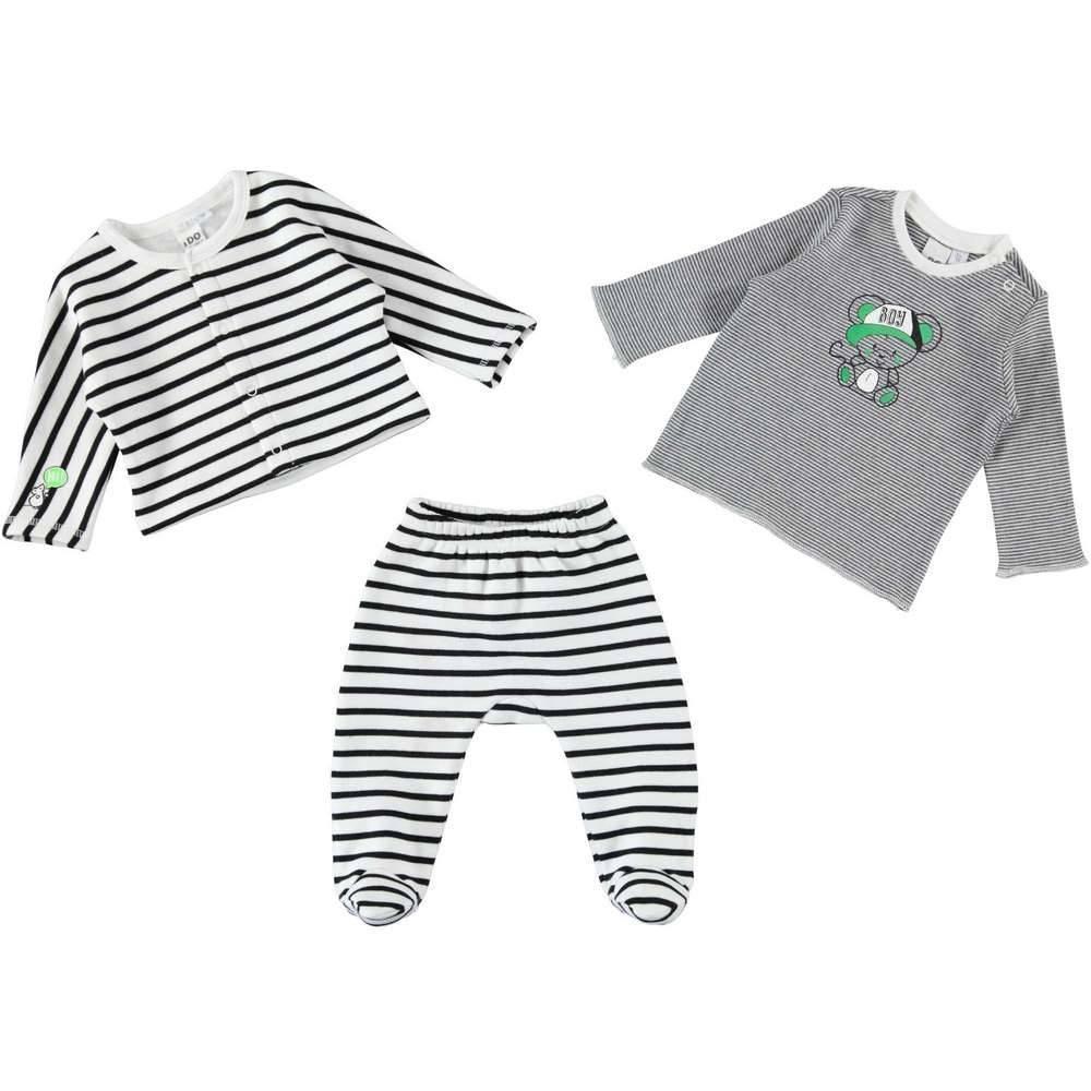 Комплект для новорожденного мальчика iDO полосатый трикотаж 4.T280.00/8131