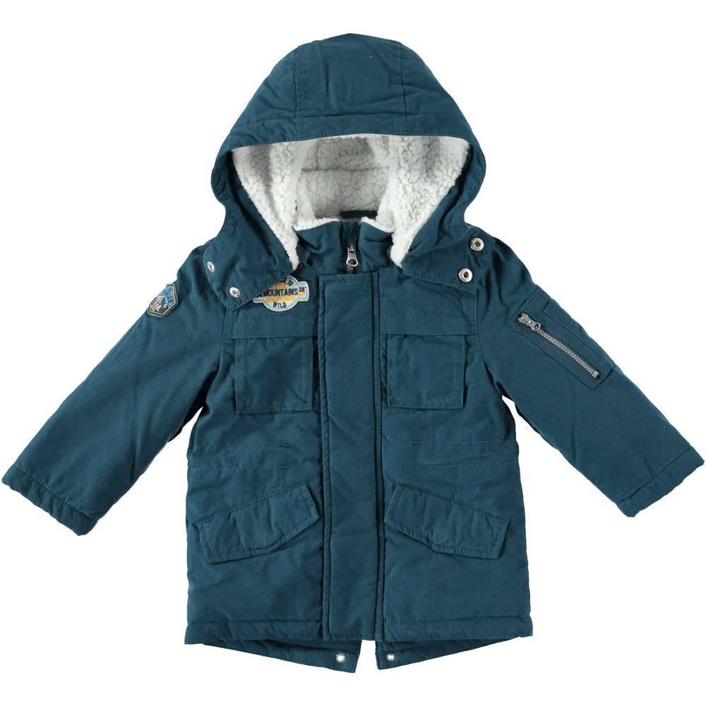 Куртка для мальчика iDO зимняя с капюшоном 4.T582.00/3937