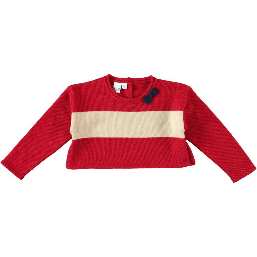 Болеро для девочки iDO вязанный красный 4.T632.00/8313