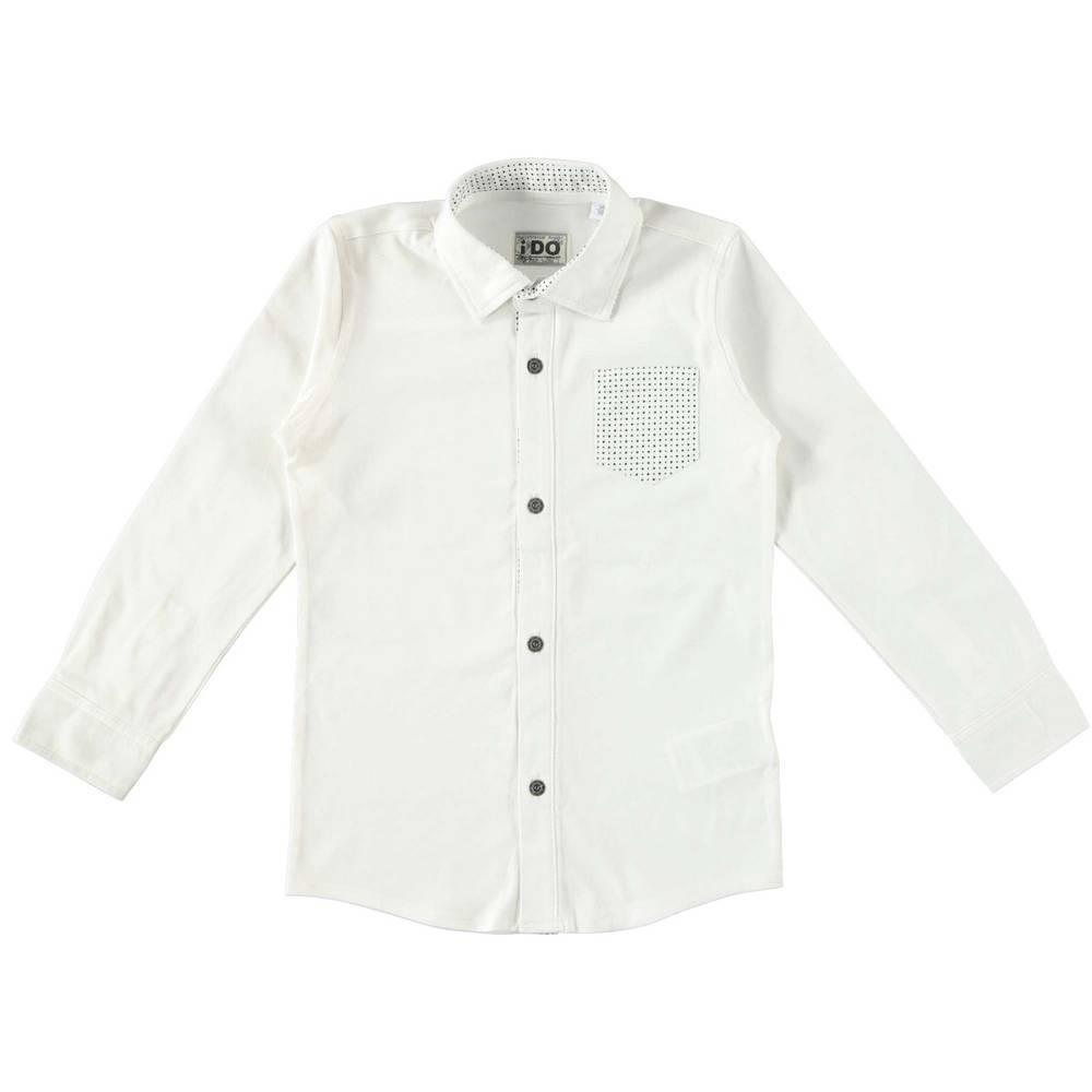 Рубашка для мальчика iDO классика белый хлопок 4.T703.00/0112