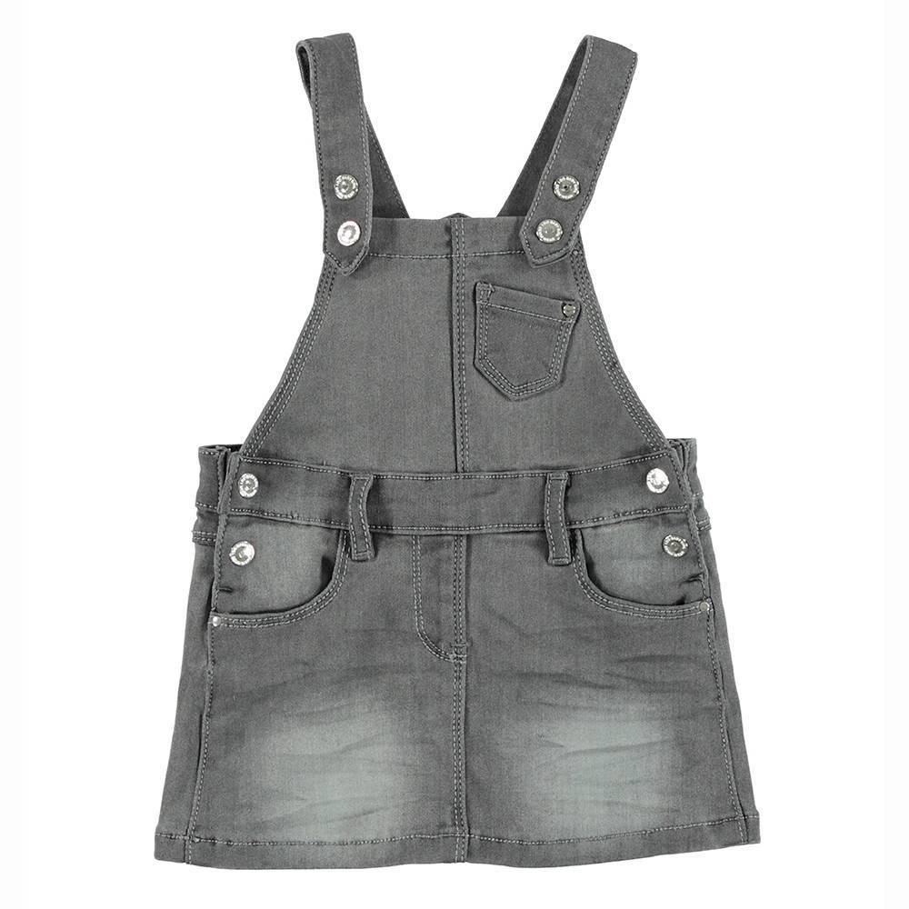 Сарафан для девочки iDO серый хлопок на шлейках 4.T651.00/7992