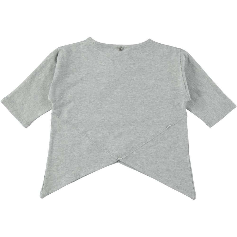 Туника для девочки iDO хлопок серый трикотаж рукав 3/4 4.T936.00/6X02