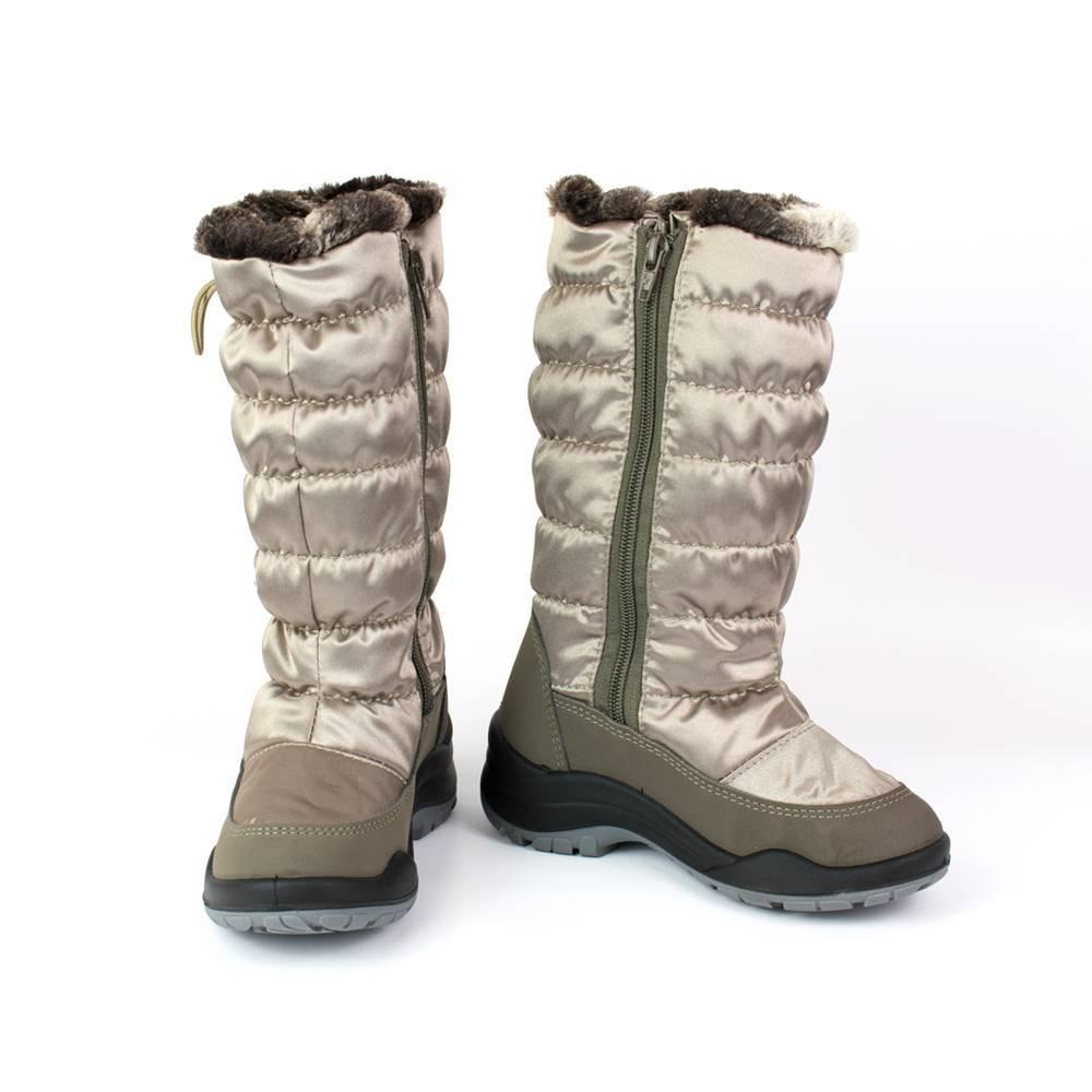 Сапоги для девочки Skandia зимние на молнии 1593R/TuonoTirana_Taupe