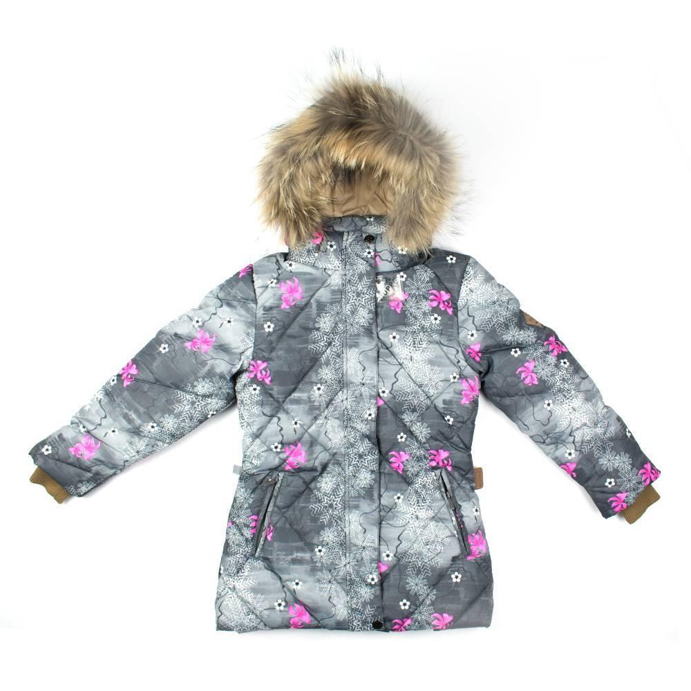 Куртка для девочки HUPPA зимняя пуховая капюшон опушка натуральный мех