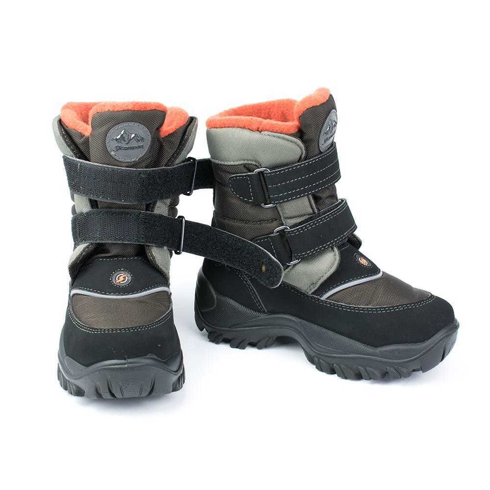 Ботинки для мальчика Skandia зимние на липучке 9311R/TuonoTecnic_MiliGrey