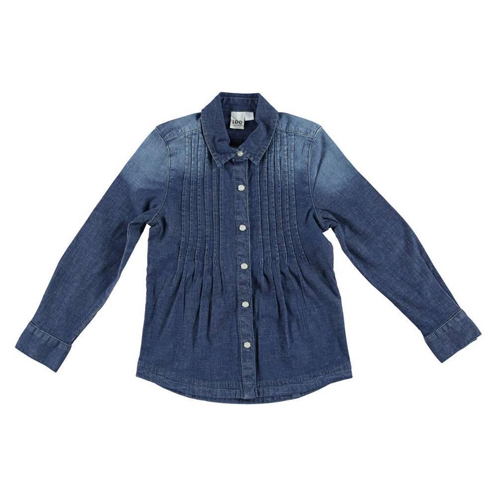 Рубашка для девочки iDO джинсовая 4.R969.00/7450