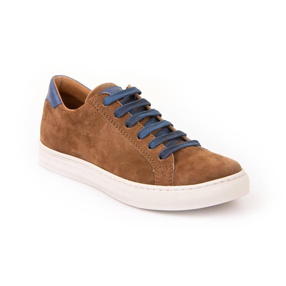 Кроссовки для мальчика Froddo демисезонные натуральная кожа замша на шнурках G4130056-2/COGNAC