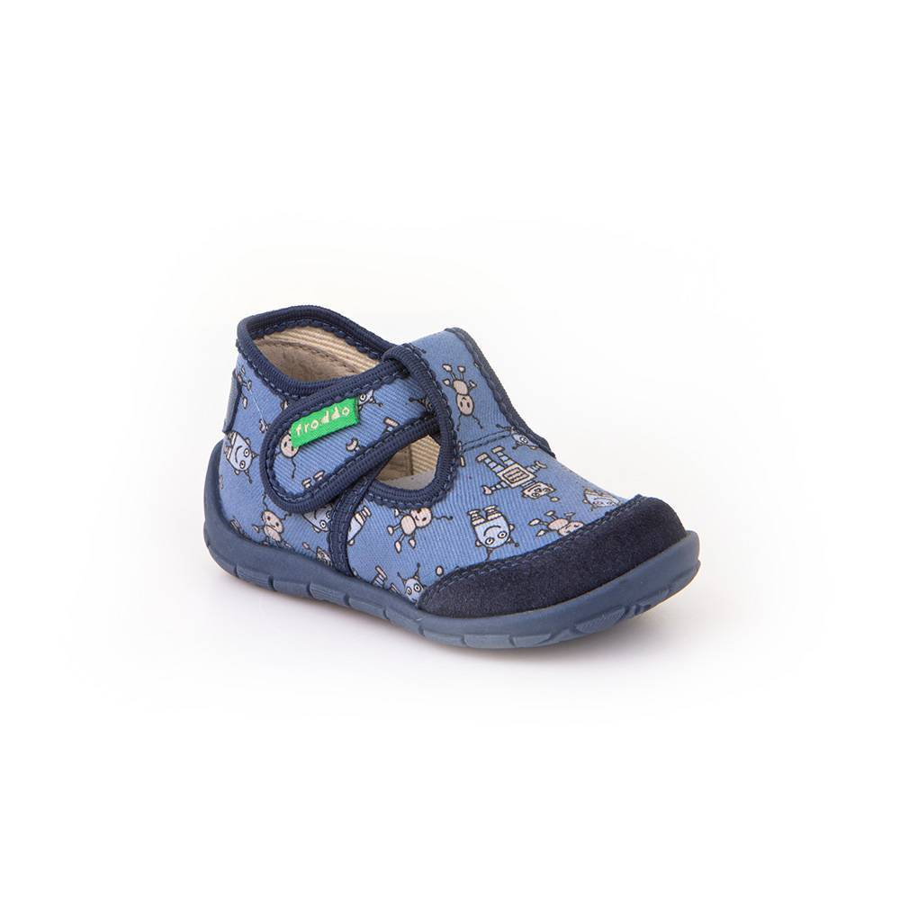 Тапочки для мальчика Froddo текстиль на липучке G1700188-4/denim