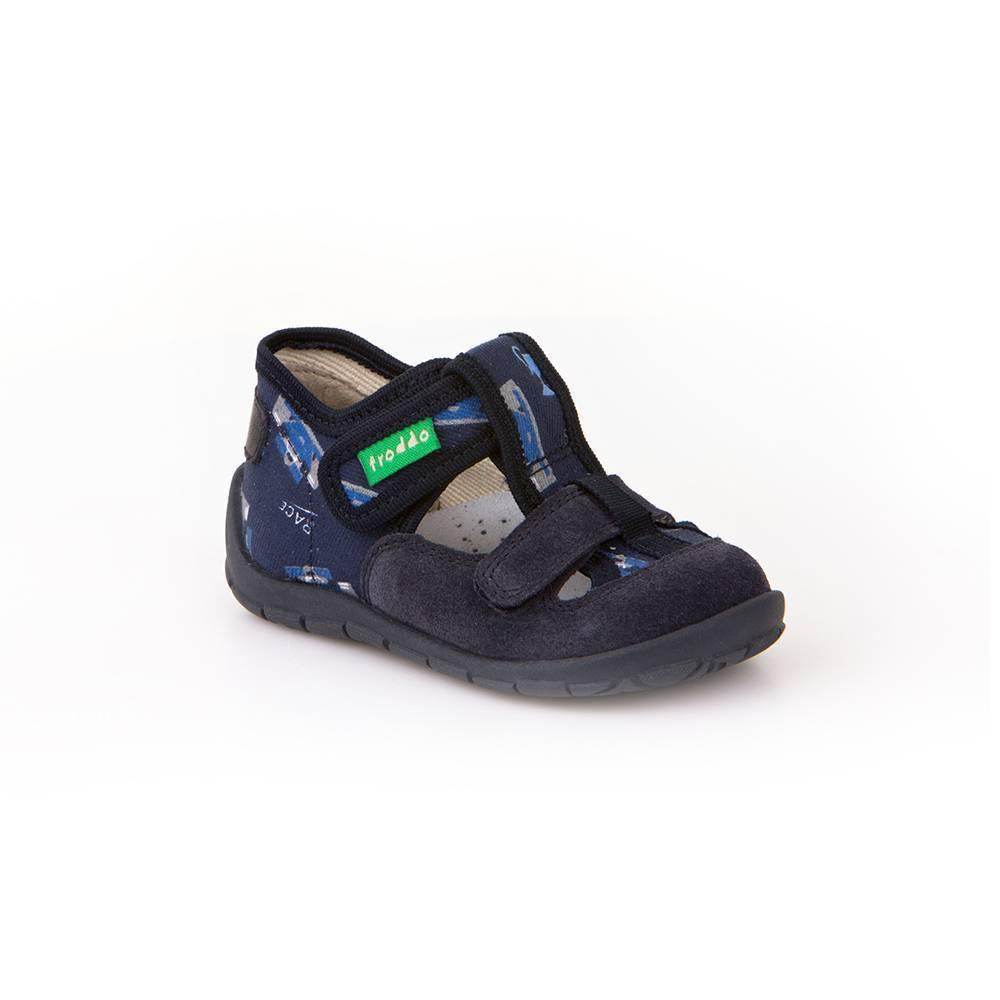 Тапочки для мальчика Froddo текстиль на липучке G1700193-5/DarkBlue