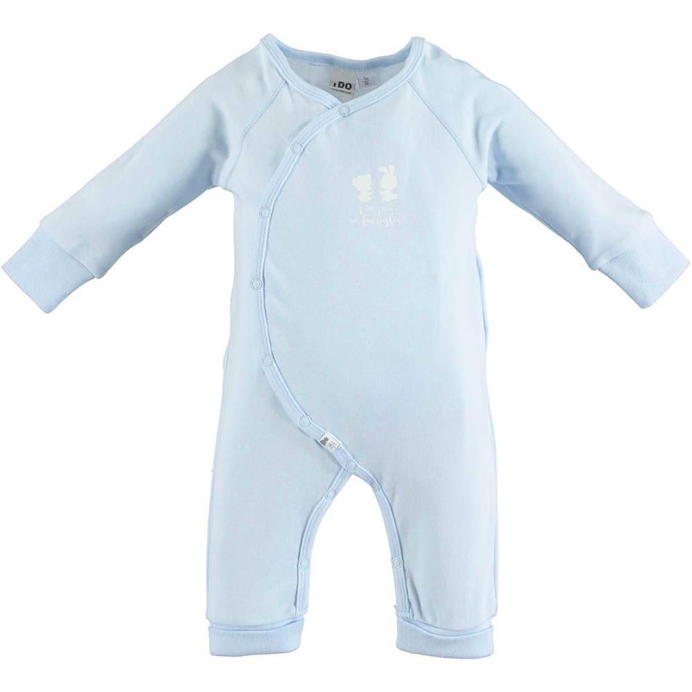 Человечек комбинезон детский iDO для новорожденных хлопок трикотаж застежка спереди 4.U011