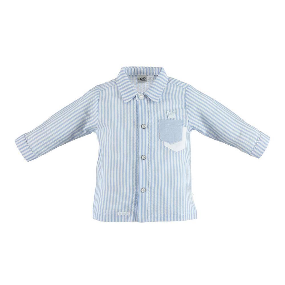 Рубашка для мальчика iDO комбинированная 4.U060.00/8212