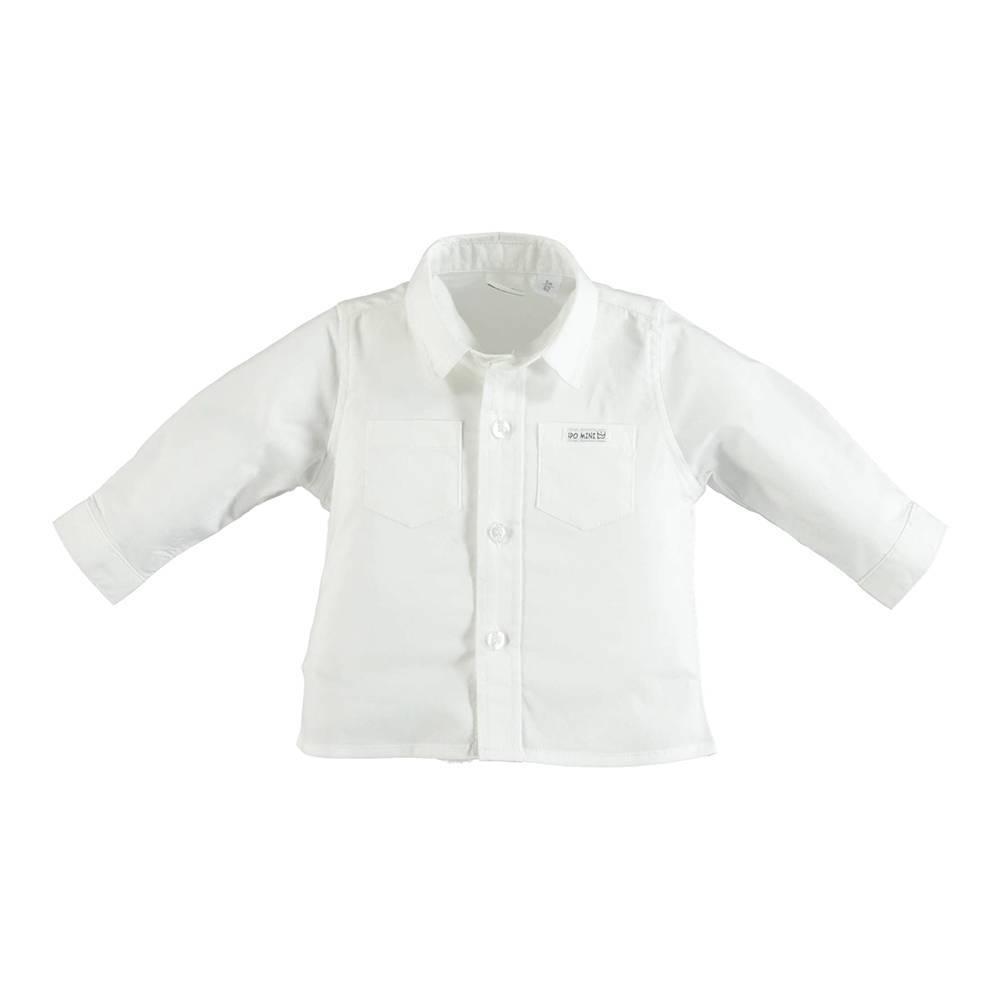 Рубашка для мальчика iDO хлопок белая классическая 4.U062.00/0113
