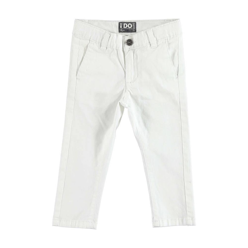 Брюки для мальчика iDO летние стильные белые 4.U230.00/0113