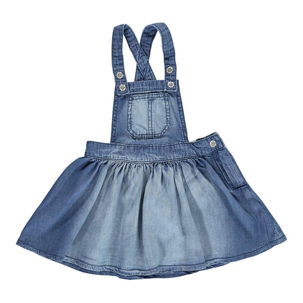Сарафан для девочки iDO джинсовый с эффектом потертости 4.U331.00/7350