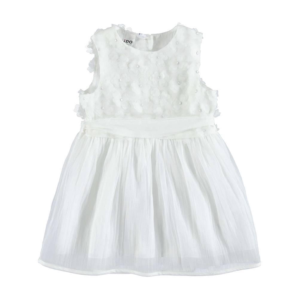Платье для девочки iDO летнее нарядное хлопковое на подкладке 4.U336.00