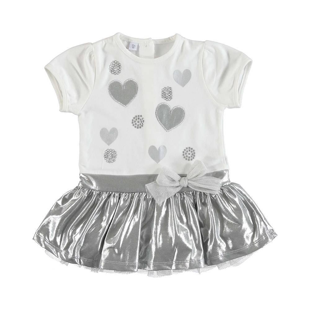 Платье для девочки iDO летнее нарядное с пышной юбкой с аппликацией 4.U338.00/8336