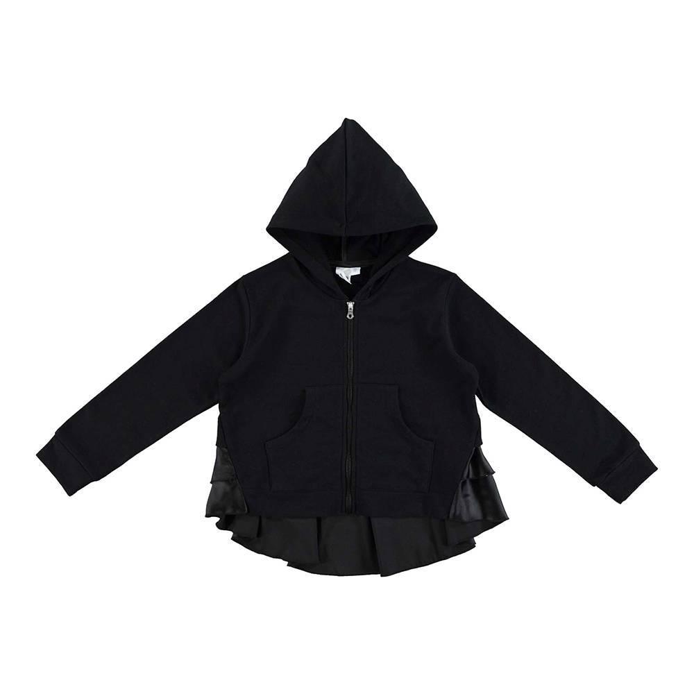 Толстовка для девочки iDO хлопок трикотаж на молнии с капюшоном с оборками 4.U528.00/0658