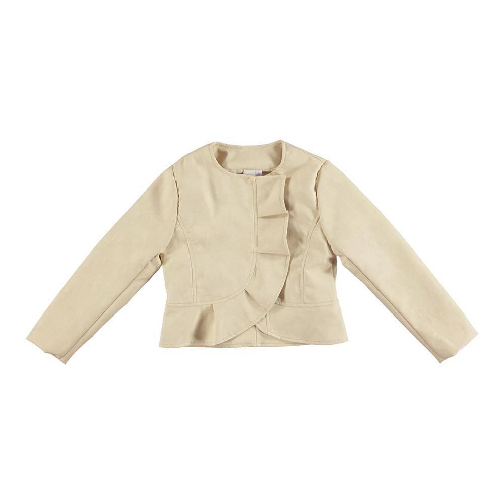 Куртка бомбер для девочки iDO стильная модная из экокожи 4.U594.00/0157