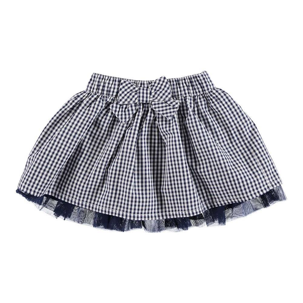 Юбка для девочки iDO клетчатая декорирована бантом 4.U370.00/3854